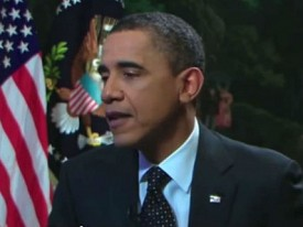 """Obama in the 2011 """"Youtube town hall"""" that Project SAM believes happened a few days ago."""
