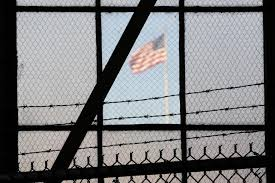 Jail w flag outside